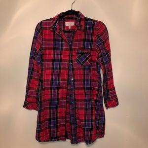 Victoria's Secret Plaid Pajama Shirt
